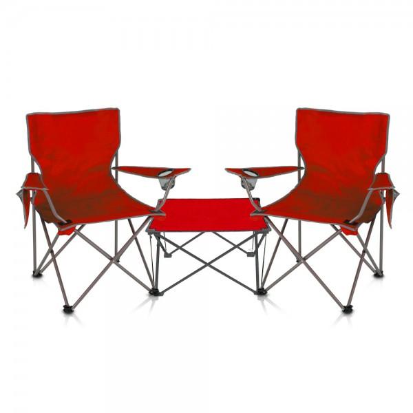 סט ים הכולל  זוג כיסאות ים ושולחן מתקפלים דגם טרנטינו