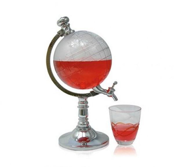 סטנד מעוצב למשקאות כגלובוס דגם אמדאוס