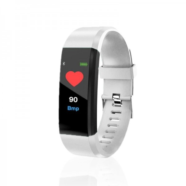 שעון כושר חכם עם מד דופק ובודק לחץ דם דגם פיטנס