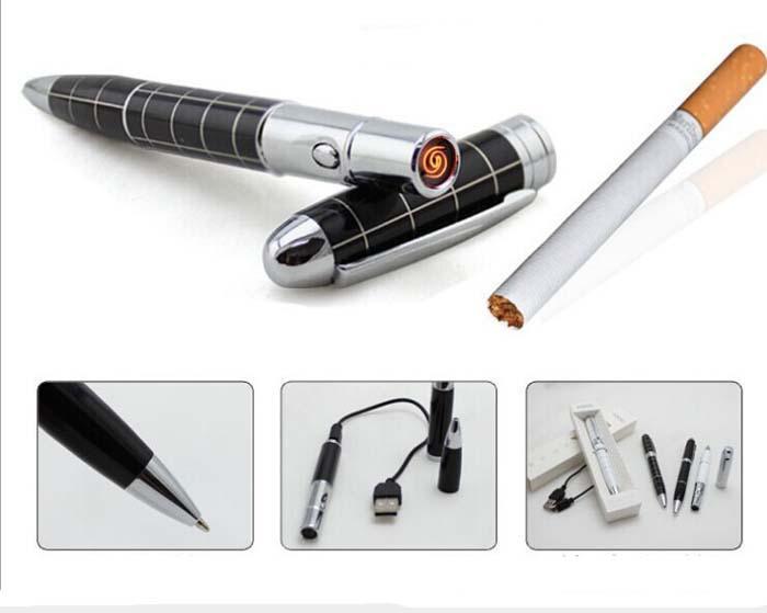 עט יוקרתי עם מצת אלקטרוני נטען USB