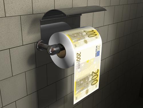 נייר טואלט דולרים / יורו