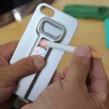 כיסוי רב שימושי לאייפון 5/5s או 6/6s - עם מצית אלקטרונית נטענת ופותחן בקבוקים