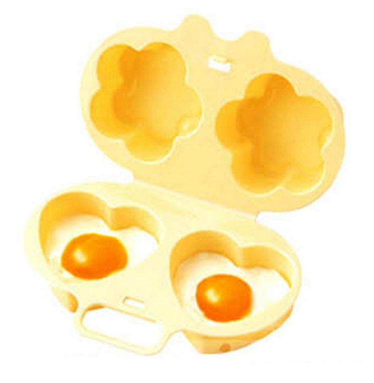 תבנית להכנת ביצת עין או חביתה בצורת לב / פרח במיקרו