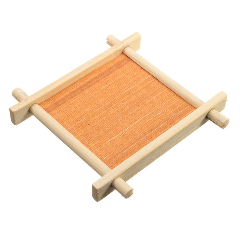 סט תחתיות לכוסות מעץ במבוק - בעיצוב רפסודה