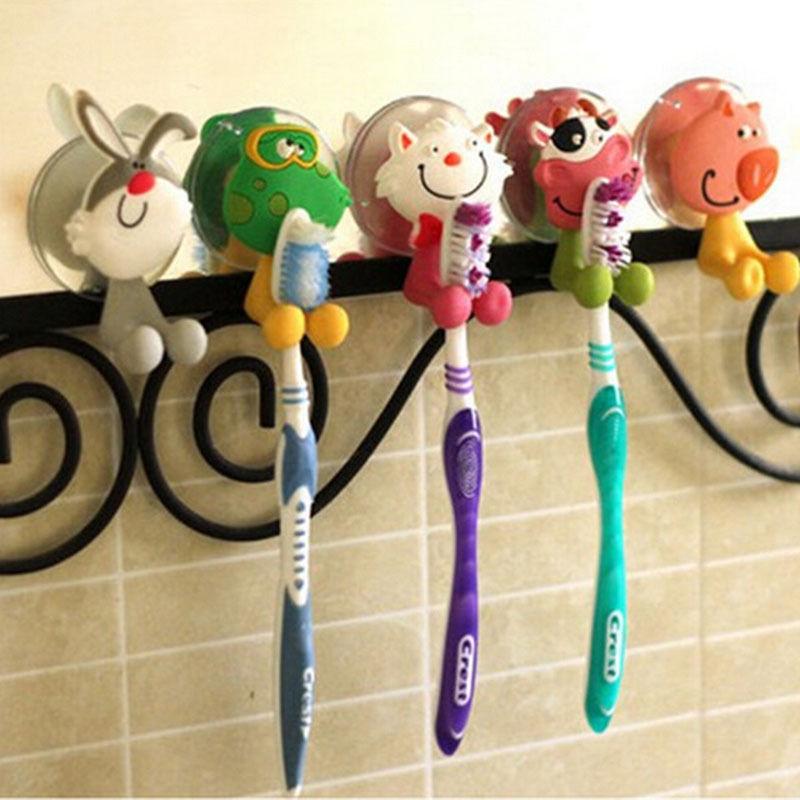 מעמד מצויר למברשת שיניים לילדים - בעיצוב חיות