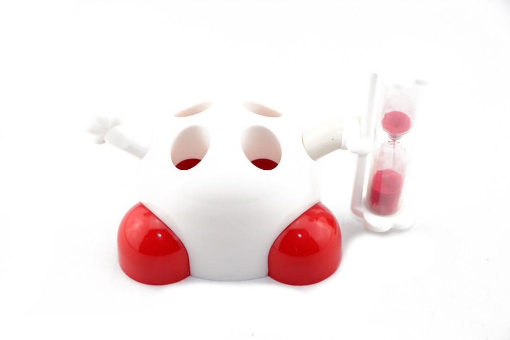 מעמד מגניב למברשות שיניים עם שעון חול 3 דקות