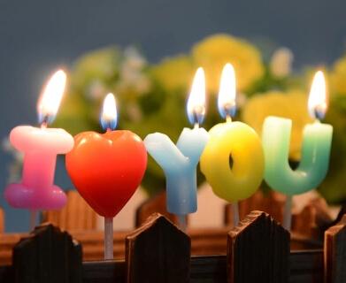 נרות אהבה - I Love You