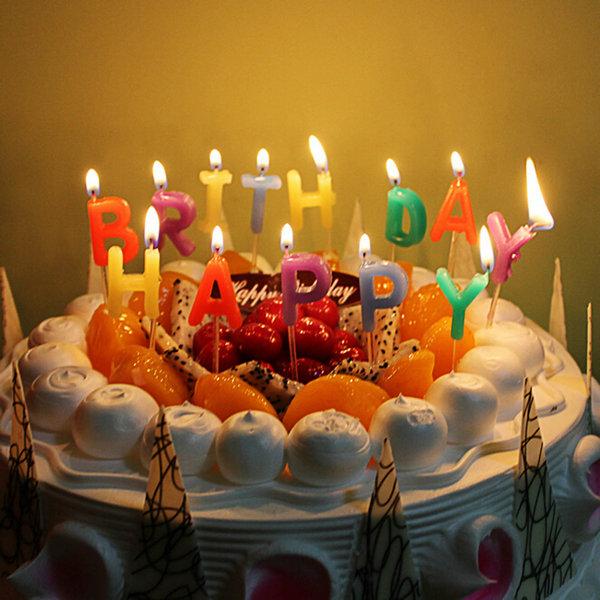 נרות יום הולדת - Happy Birthday