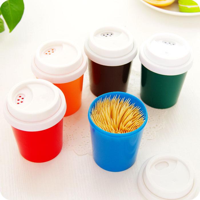 מתקן לקיסמי שיניים - כוס קפה