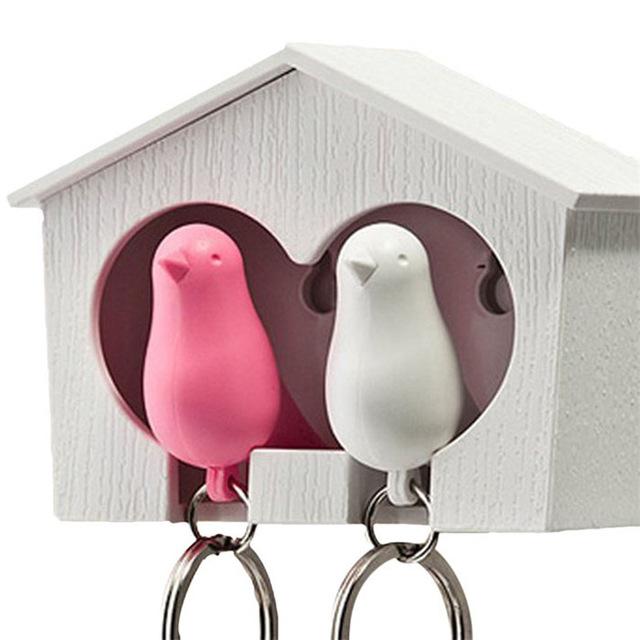 מתלה מפתחות זוגי - קן ציפורים