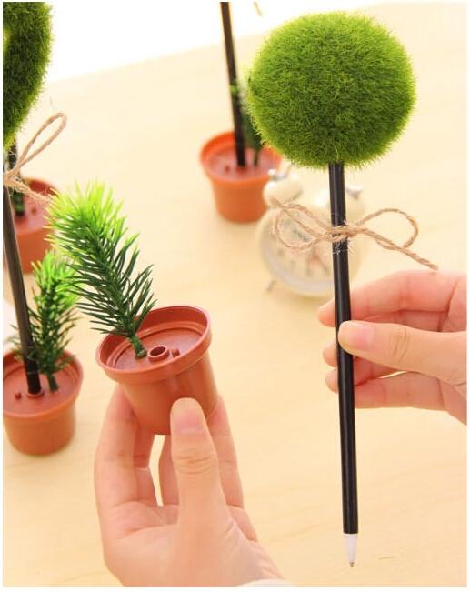 עט בעיצוב עציץ במגוון צורות