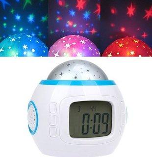 שעון מעורר משוכלל לחדר הילדים - מנגן ומקרין כוכבים