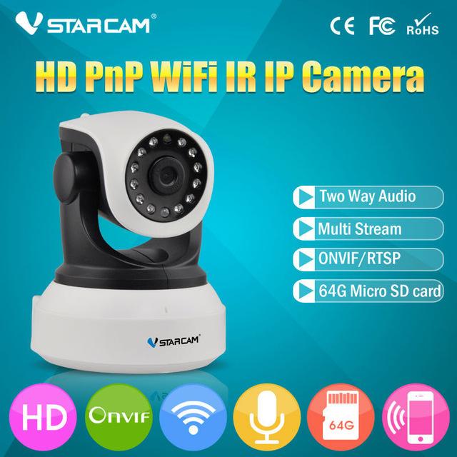 מצלמת IP אלחוטית באיכות HD לאבטחה עם ראיית לילה  VSTARCAM