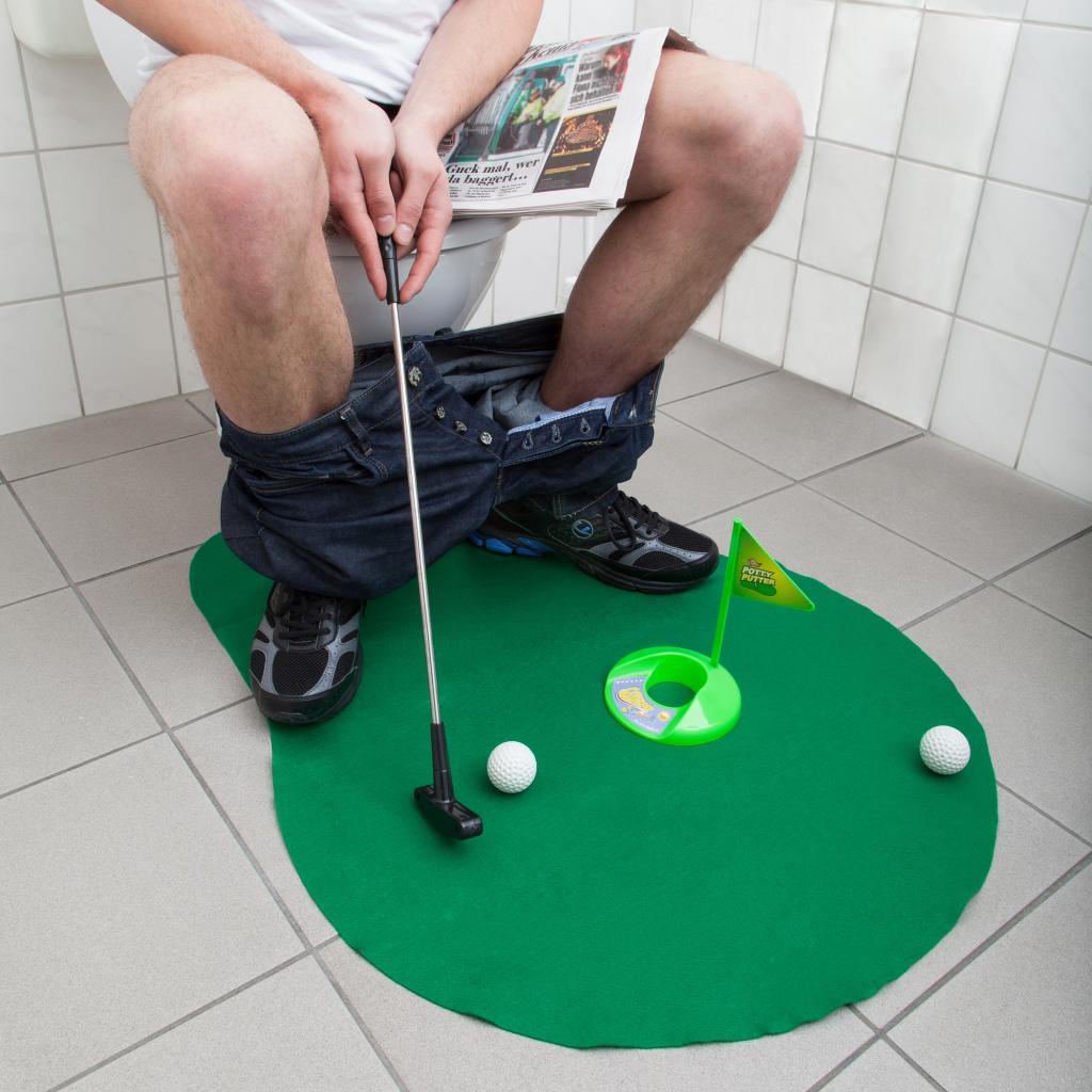 משחק גולף לשירותים