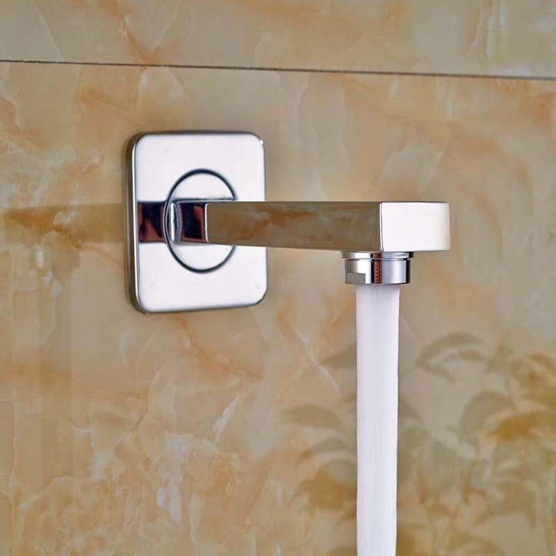 צינור מרובע צמוד קיר לאמבט או לדוש - BW01