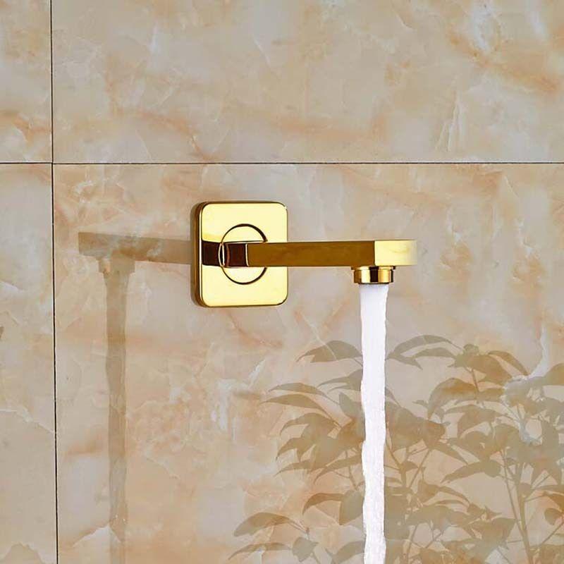 צינור מאריך מרובע לאמבט או לדוש זהב - BW02
