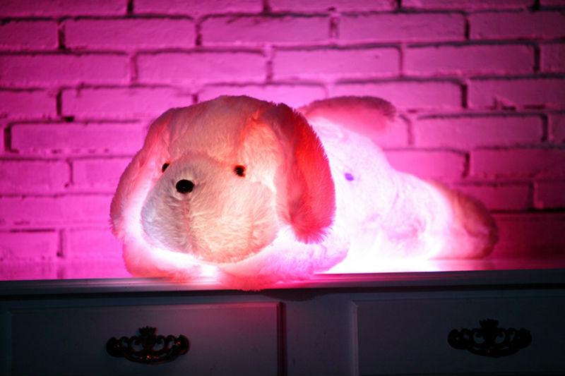 בובת כלב ענקית 50CM עם תאורת לד