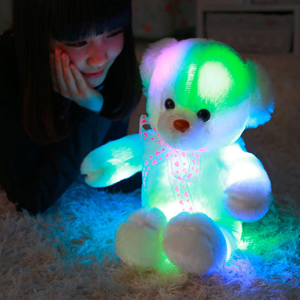 בובת דובי גדולה במיוחד 50CM עם תאורת לד