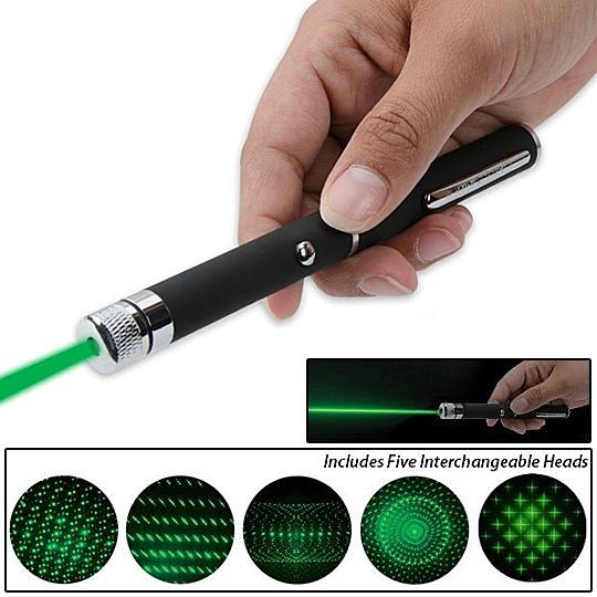 לייזר ירוק 100mw עם 5 ראשים לאפקטים שונים