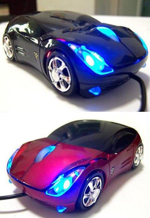 עכבר למחשב בעיצוב מכונית ספורט