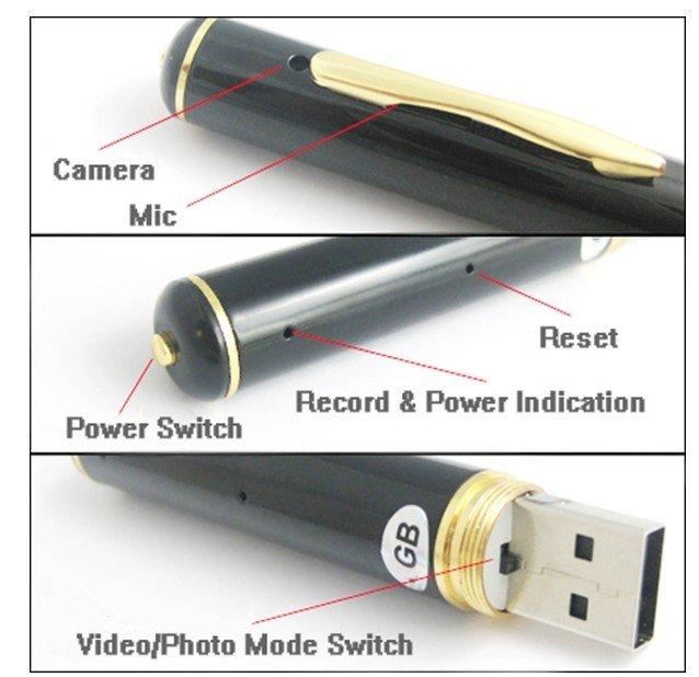 עט מצלמה נסתרת HD